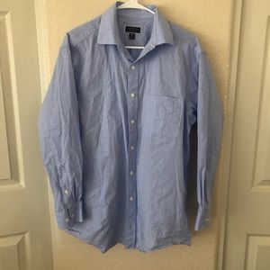 Club room light blue square button down